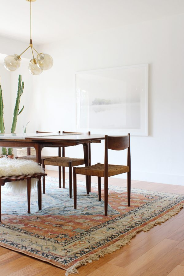 Modern Mid-Century Boho Dining Room | Dining room design ideas, dining room decor and more home decor ideas from @cydconverse