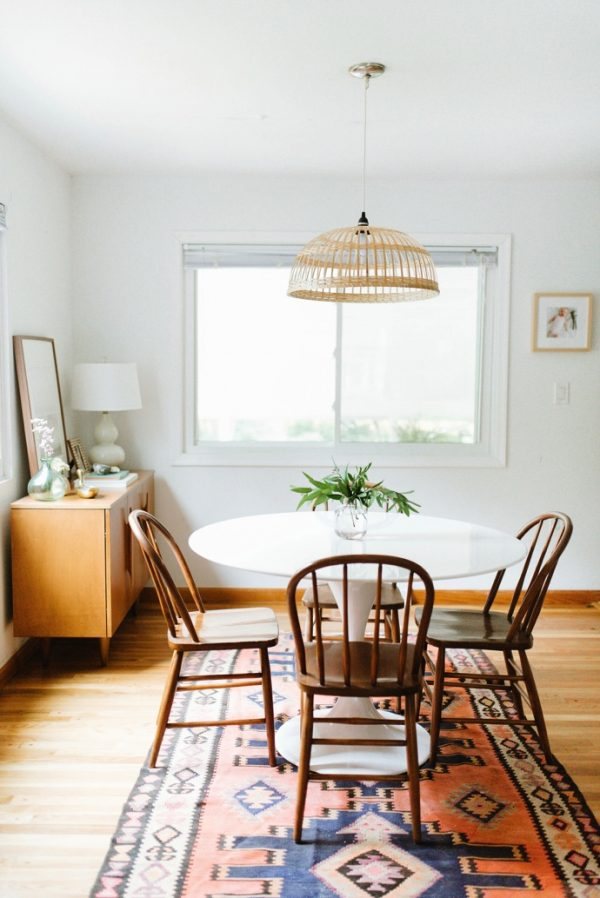 Simple Modern Boho Dining Room | Dining room design ideas, breakfast nook ideas, dining room decor and more home decor ideas from @cydconverse