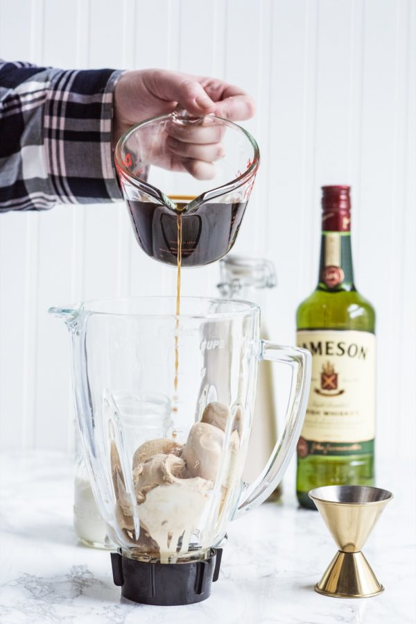 Boozy Irish Coffee Milkshake | St. Patrick's Day cocktails, St Patrick's Day desserts, St. Patrick's Day recipes, Irish coffee recipe and more from @cydconverse