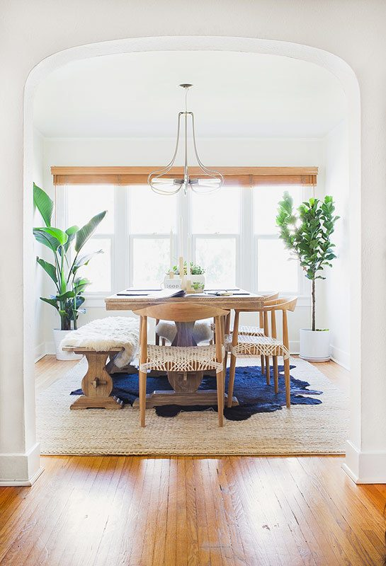 Textured Neutral Dining Room | Dining room design ideas, breakfast nook ideas, dining room decor and more home decor ideas from @cydconverse