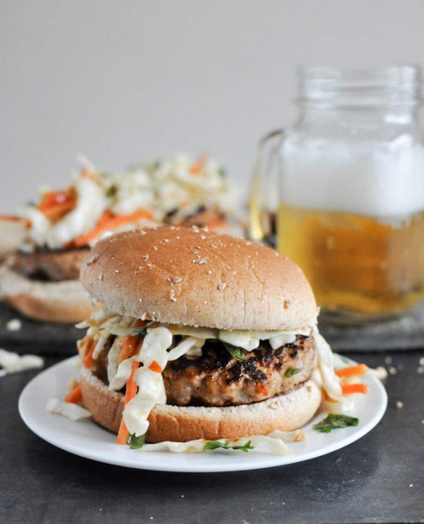 Thai Turkey Burgers | Friday night dinner ideas, easy dinner recipes, weeknight dinner ideas and more from @cydconverse