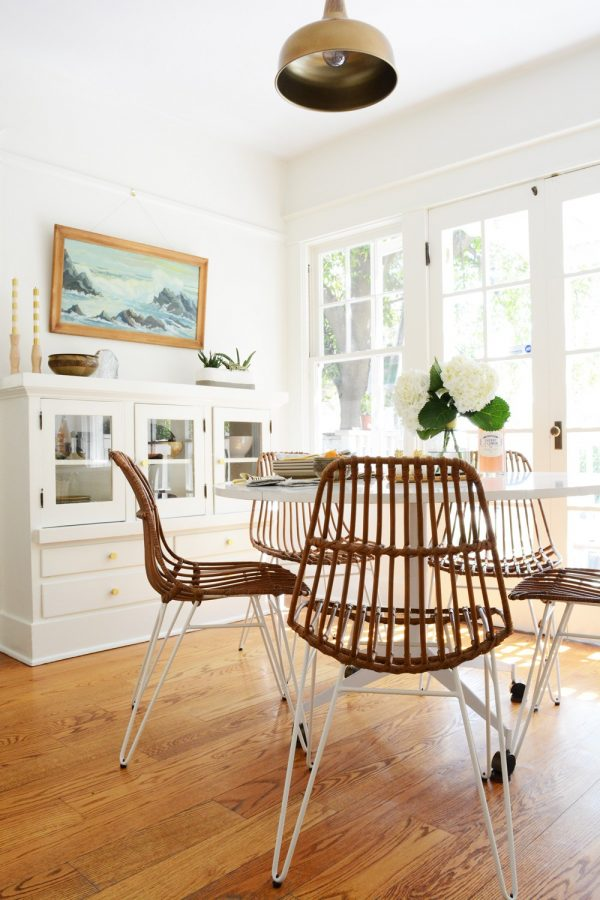 Modern White Craftsman Dining Room | Dining room design ideas, dining room decor and more home decor ideas from @cydconverse
