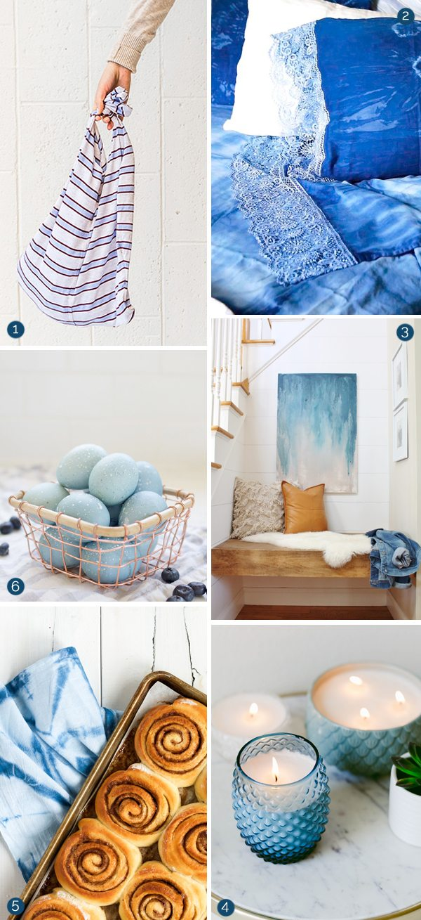 Beautiful Beachy Blue Color Palette | DIY ideas, recipes, natural Easter egg dyeing, indigo dyeing and more from @cydconverse
