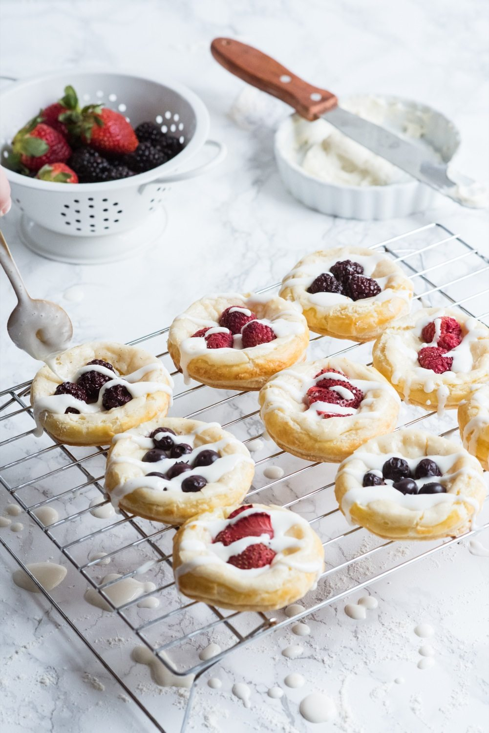 Berry + Cream Cheese Breakfast Pastries - The Sweetest Occasion