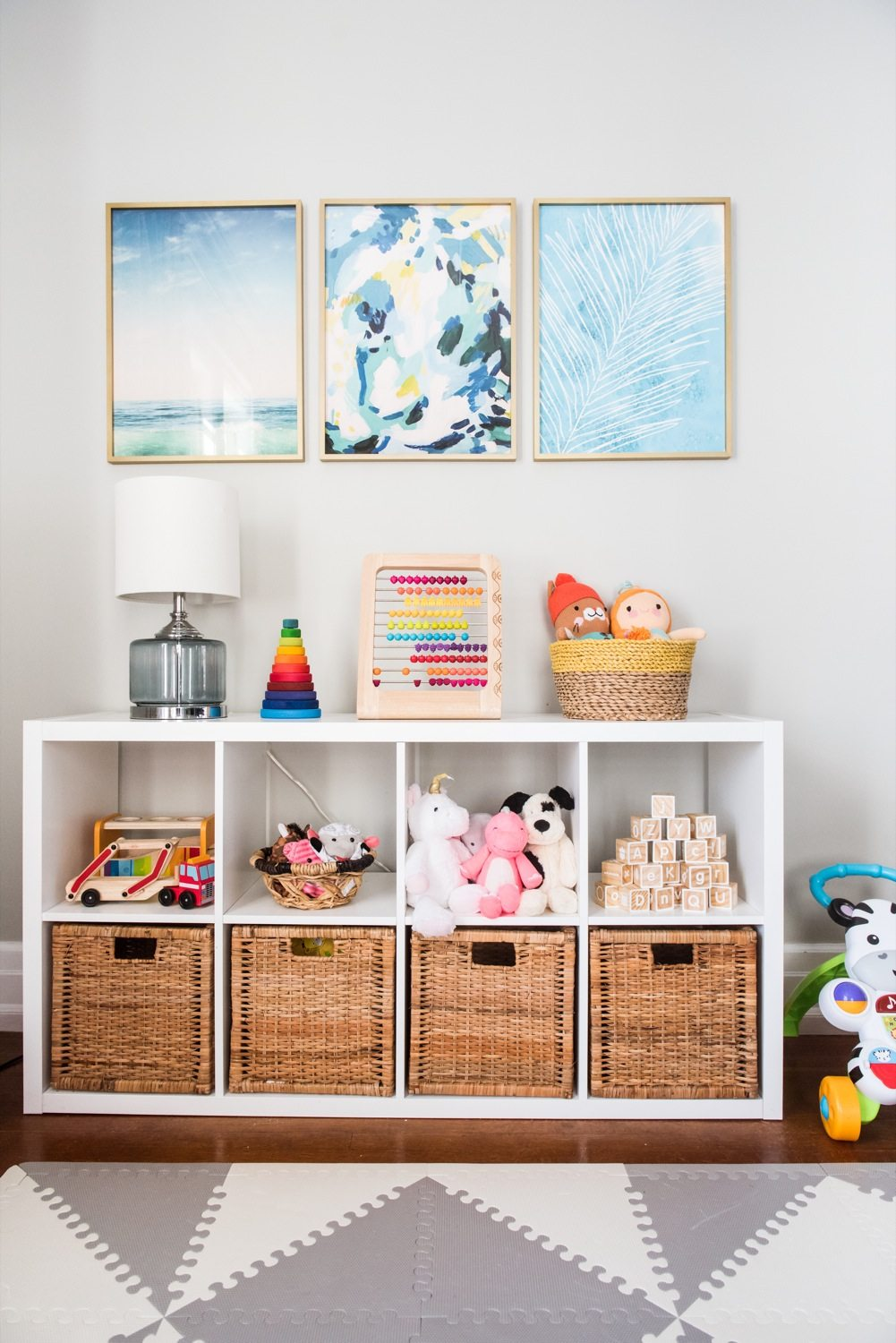 Emerson 39 s modern playroom tour the sweetest occasion for Room decor ideas for toddlers