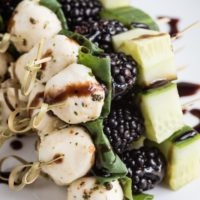 Blackberry Cucumber Caprese Skewers