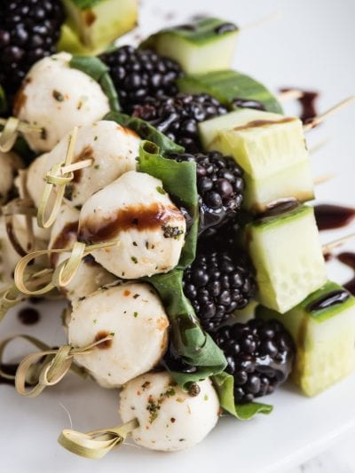 Blackberry Cucumber Caprese Skewers thumbnail