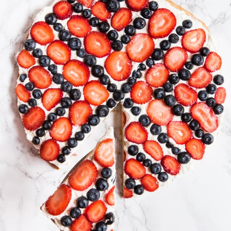 Americana Sugar Cookie Fruit Pizza