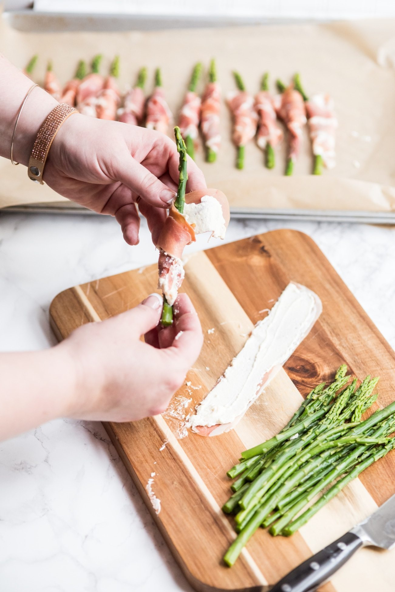 Prosciutto Wrapped Asparagus Recipe | Easy party appetizers, cocktail recipes, entertaining tips, party ideas and more from @cydconverse