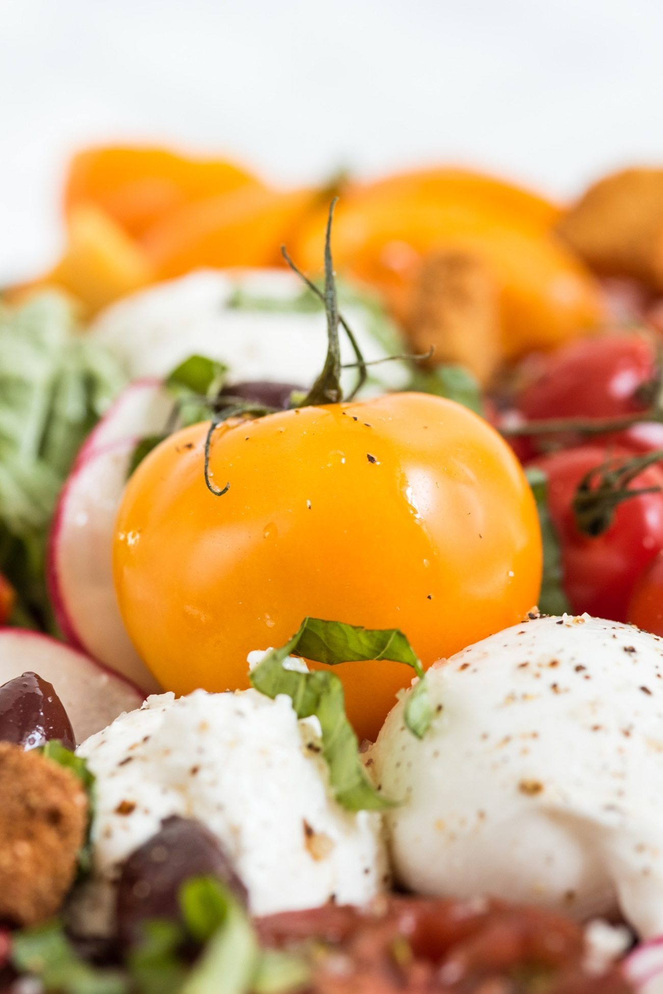 The Ultimate Caprese Salad Board | Entertaining ideas, party appetizers, cocktail recipes, party ideas and more from @cydconverse