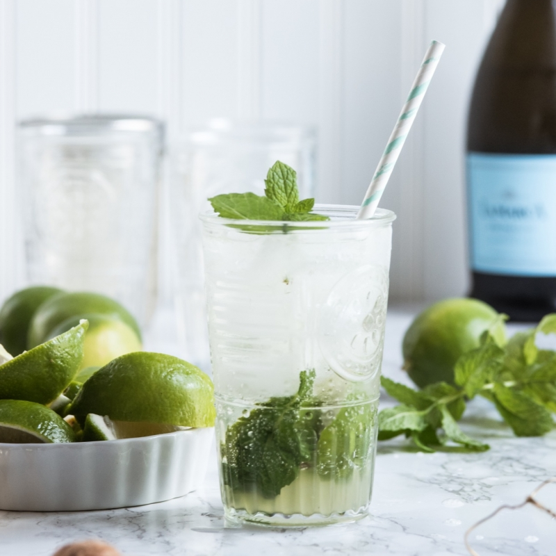 Summery Champagne Mojitos