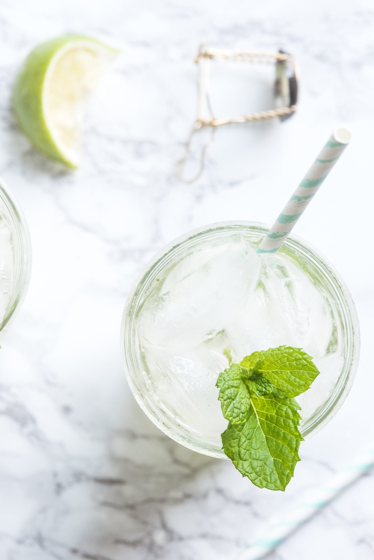 Champagne Mojito Recipe | Cocktail recipes, entertaining tips, party ideas, party recipes and more from @cydconverse