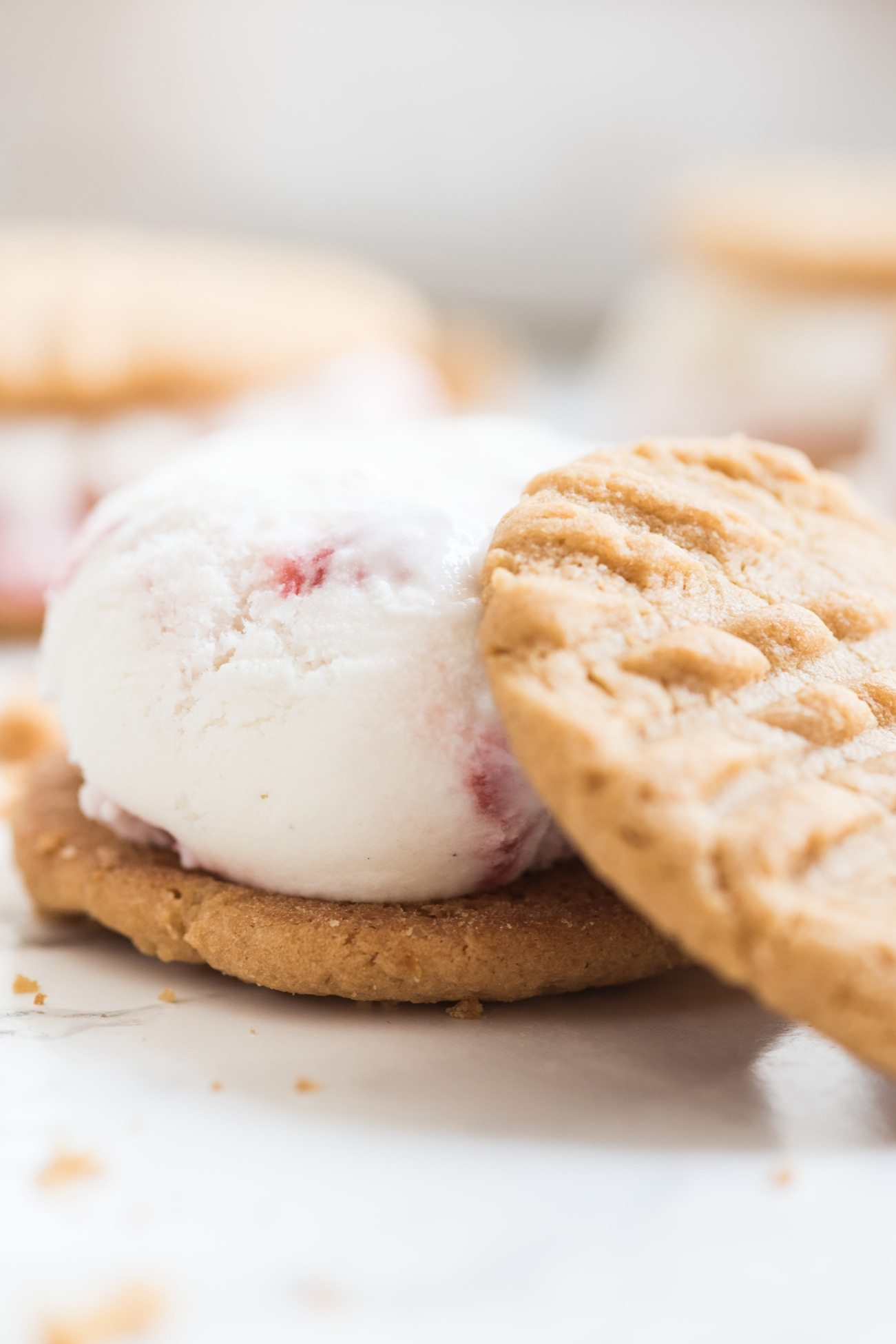 Peanut Butter + Jelly Ice Cream Sandwiches | Summer desserts, homemade ice cream sandwiches, entertaining tips, party ideas and more from @cydconverse