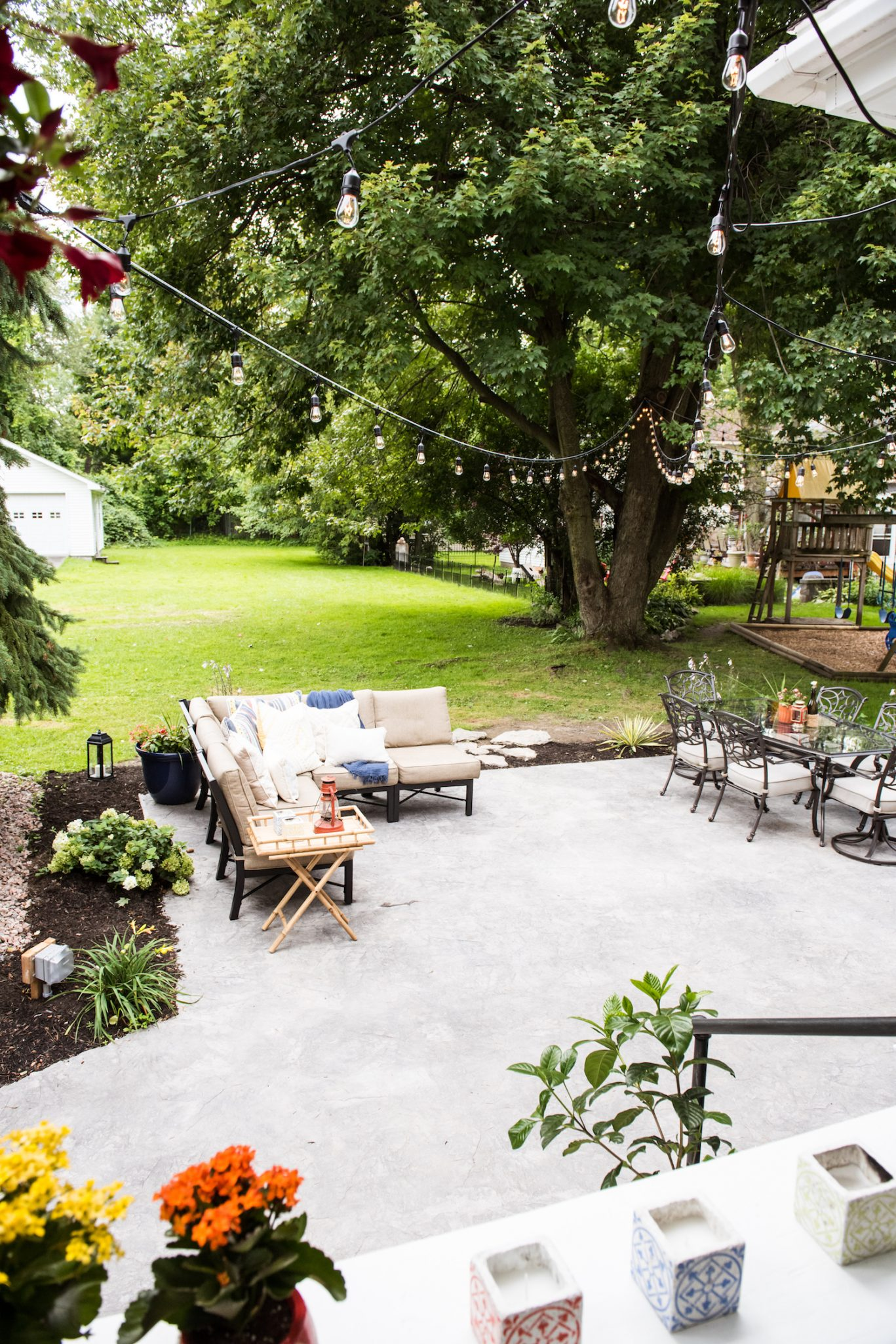 Our Backyard Makeover + New Patio Reveal (Before and After ... on Backyard Patio Makeover id=39826