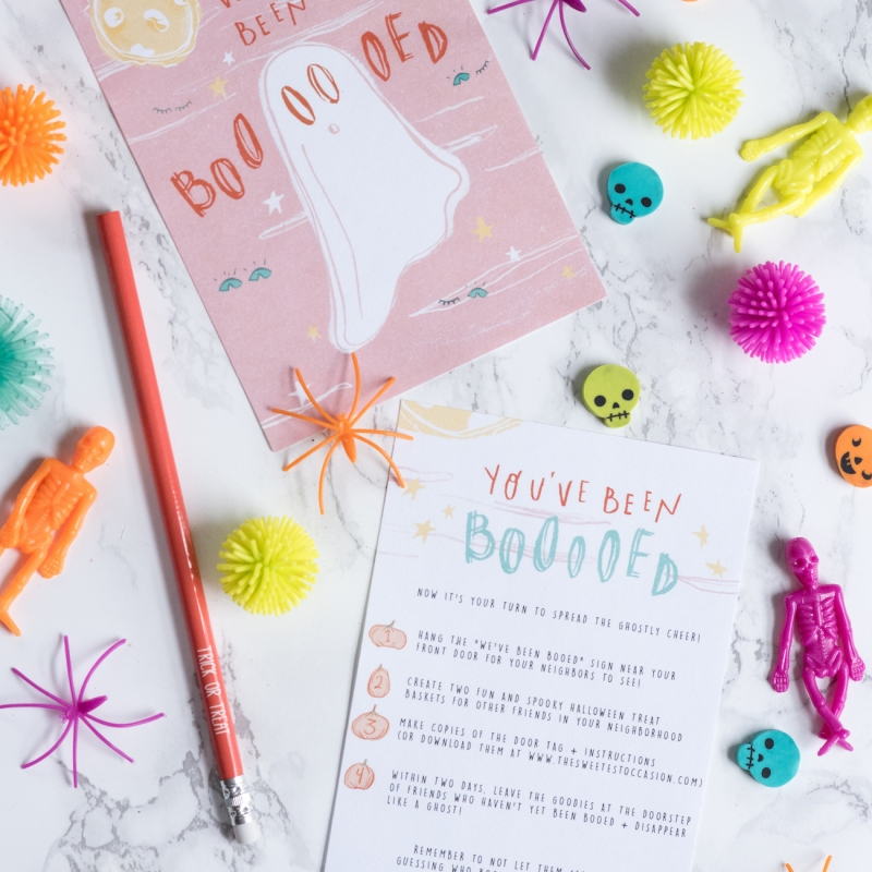 Trick or Treat! You've Been Booed Halloween Printables
