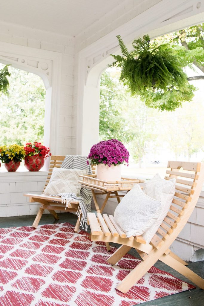 Our Fall Front Porch Decor   Fall decorating ideas, entertaining tips, party ideas and more from @cydconverse