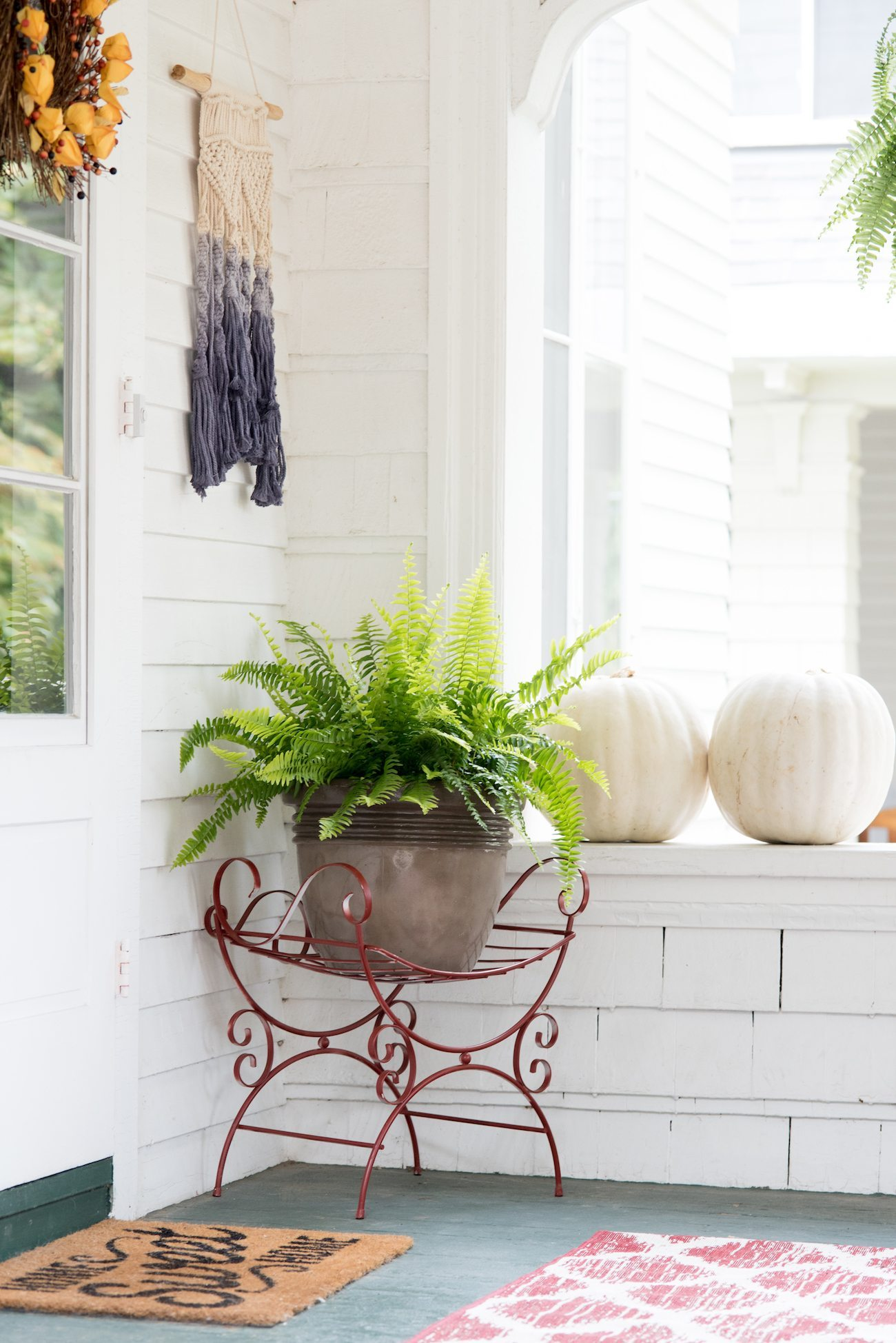 Our Fall Front Porch Decor - The Sweetest Occasion