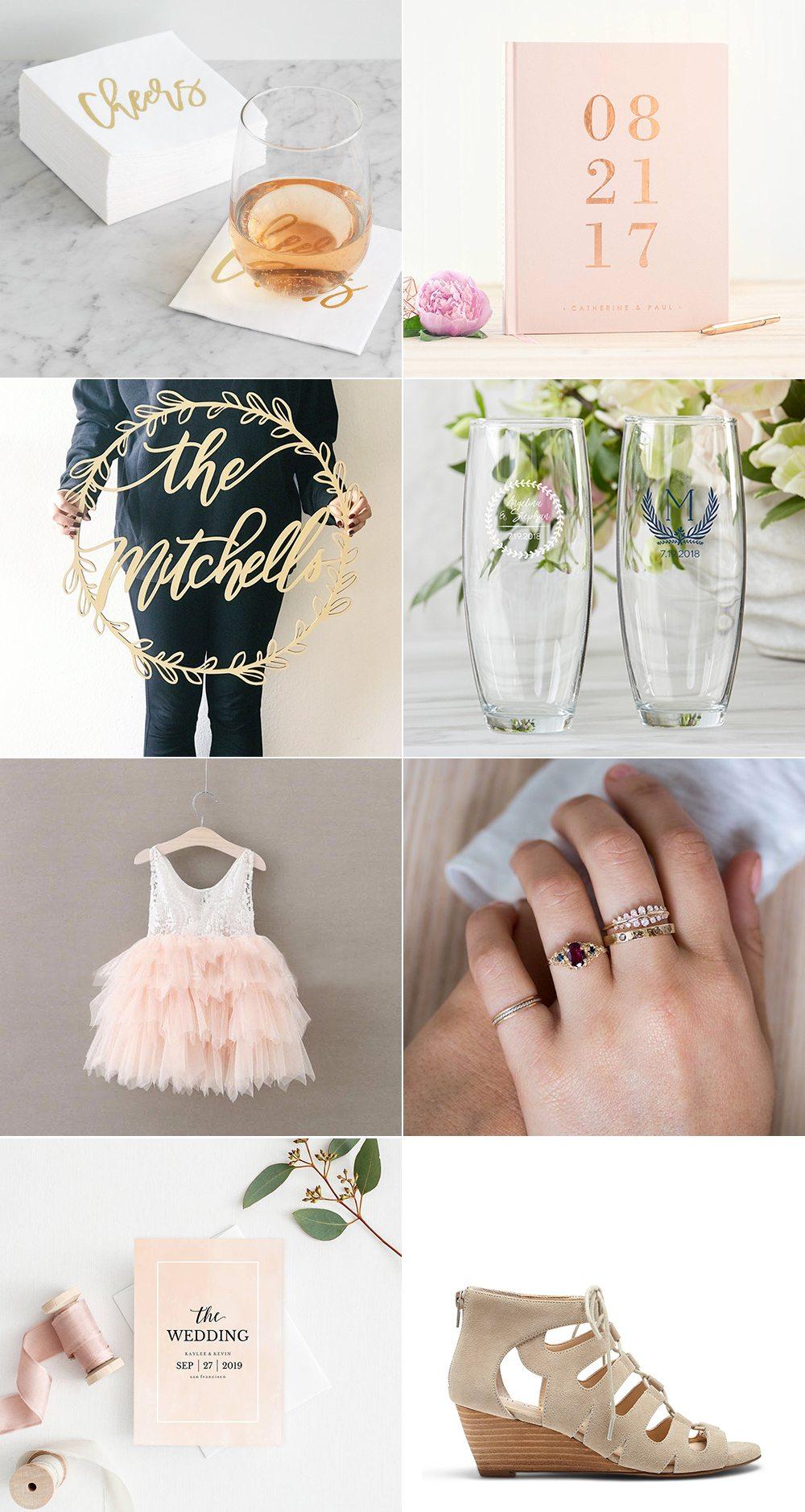 Backyard Wedding Ideas   Wedding inspiration, wedding guest book, blush pink wedding ideas from @cydconverse