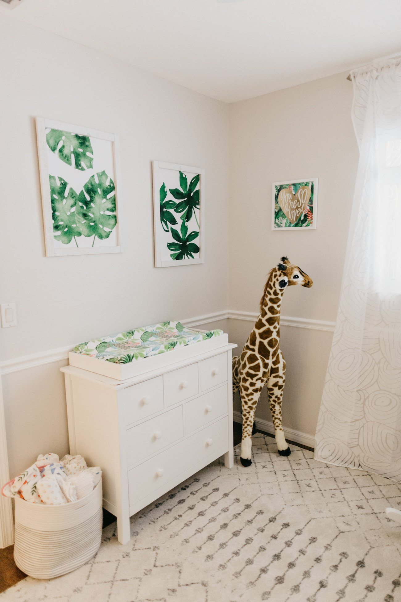 Florida Newborn Photos + Tropical Nursery Tour - Home Decor