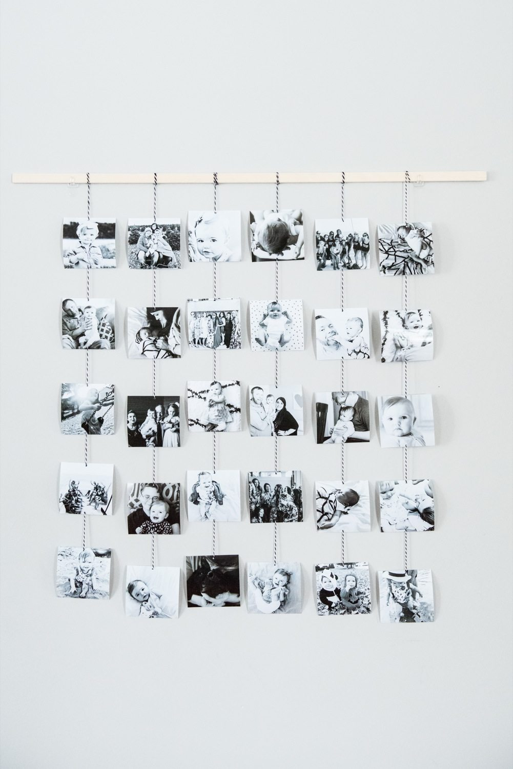 DIY Family Photo Wall Hanging