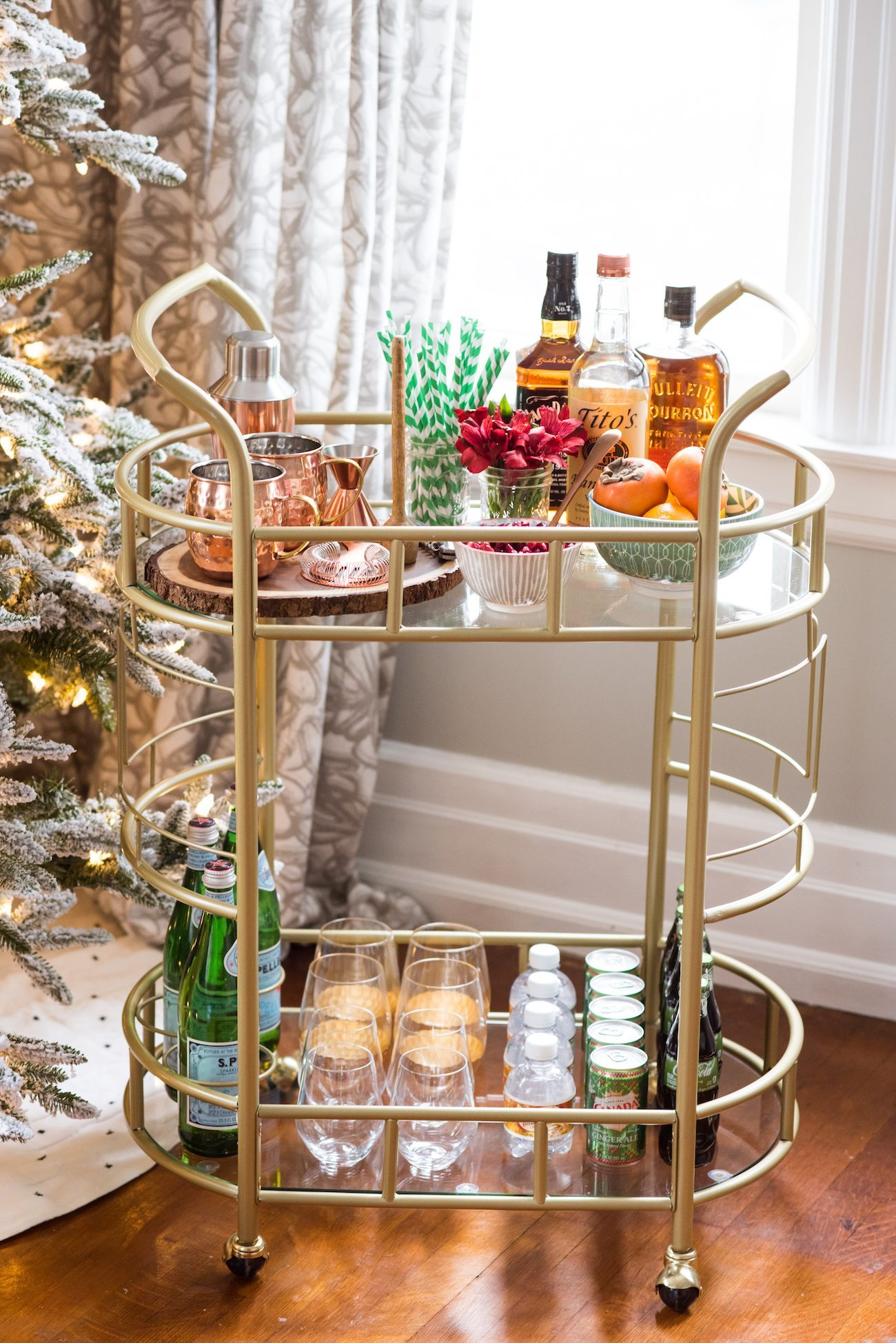 How to Stock the Perfect Holiday Bar Cart