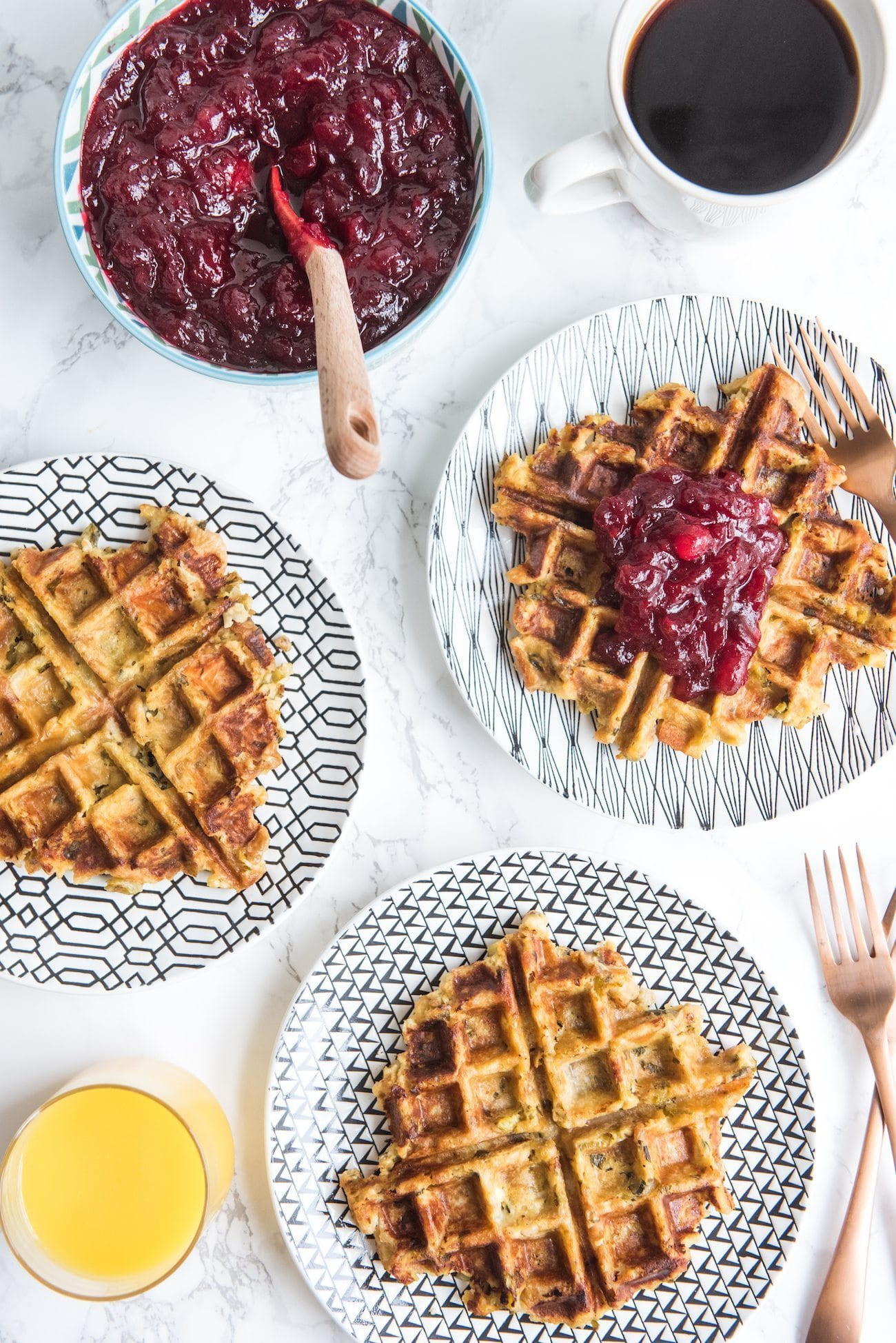 Leftover Stuffing Waffles Recipes | What to do with leftover stuffing, entertaining tips, party ideas, holiday party ideas and more from @cydconverse