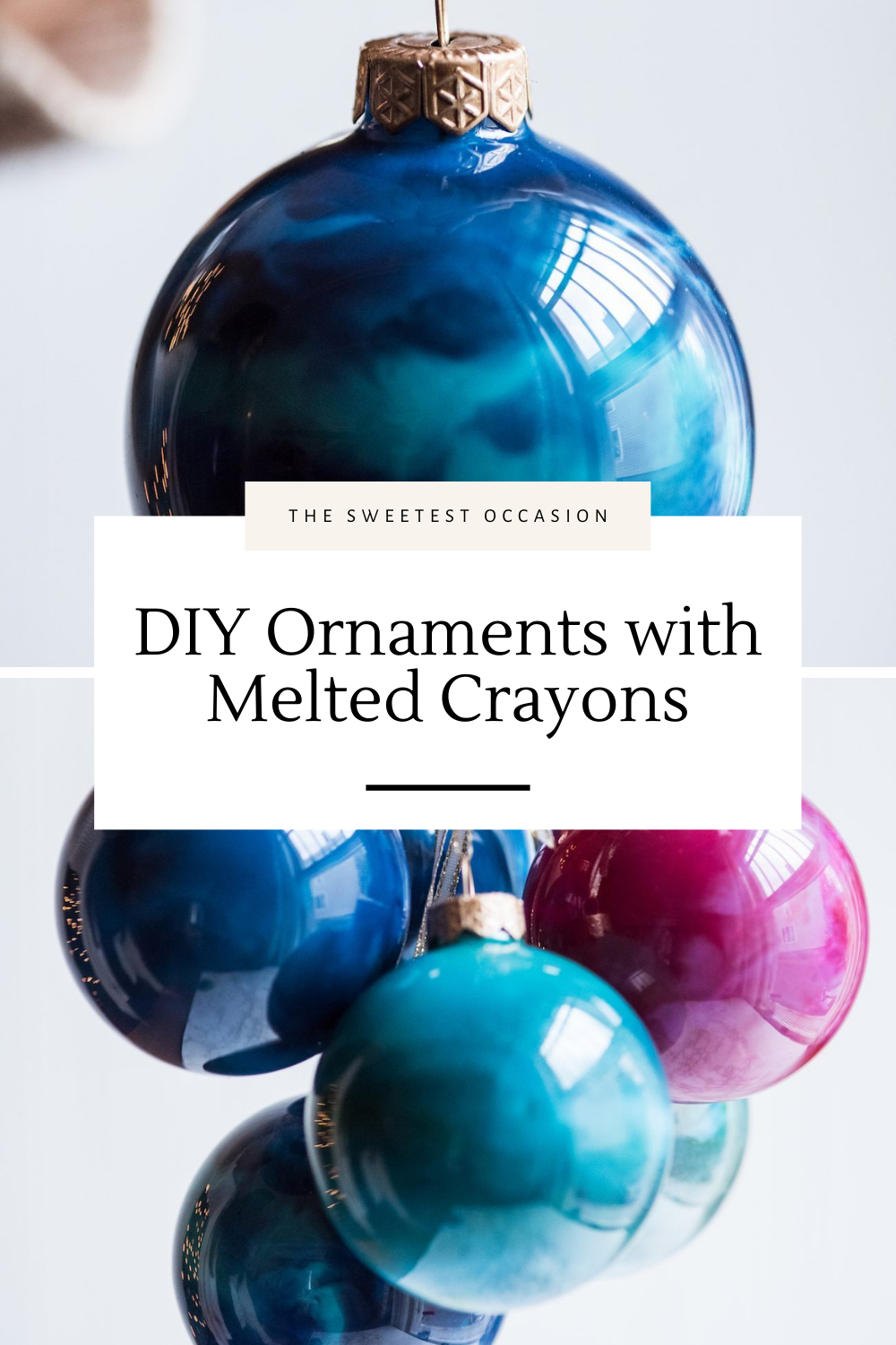 DIY Christmas Ornaments with Melted Crayons
