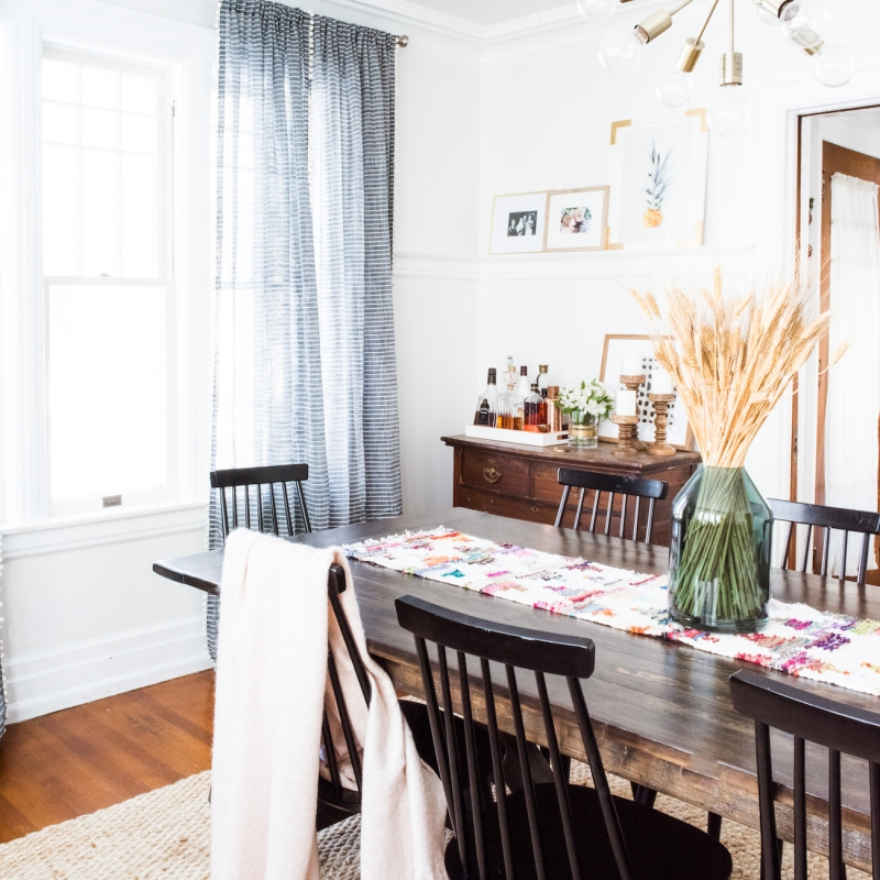 Our Holiday Dining Room Makeover