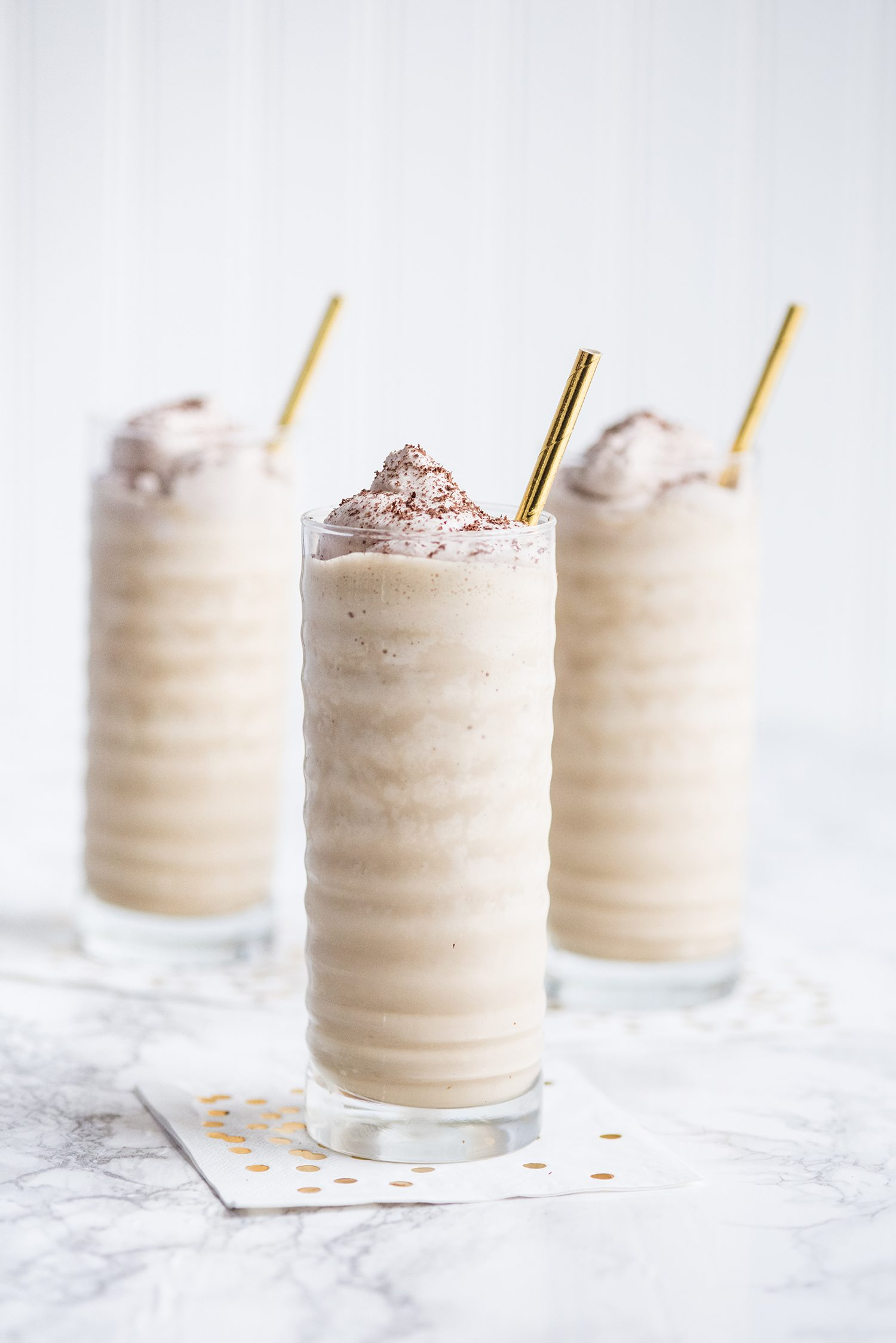 Boozy Irish Coffee Milkshakes | Dessert recipes, holiday crafts, entertaining tips, party ideas and more from @cydconverse
