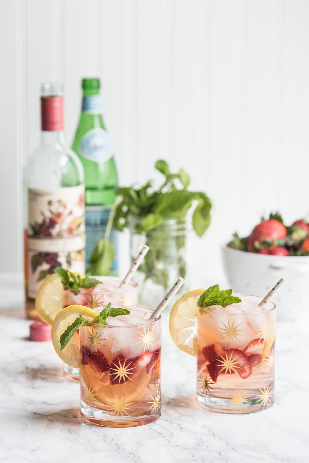 A Summery Rosé Spritzer Recipe | Cocktail recipes, entertaining tips, party ideas, party recipes and more from @cydconverse
