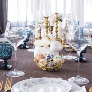 A Modern Elegant Easter Dinner Table thumbnail