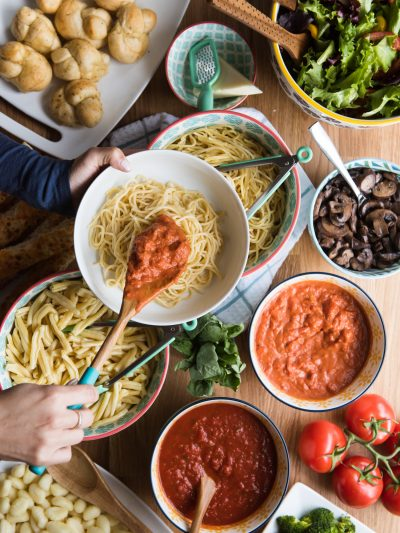 Host an Awesome Dinner Party with a Make Your Own Pasta Bar thumbnail