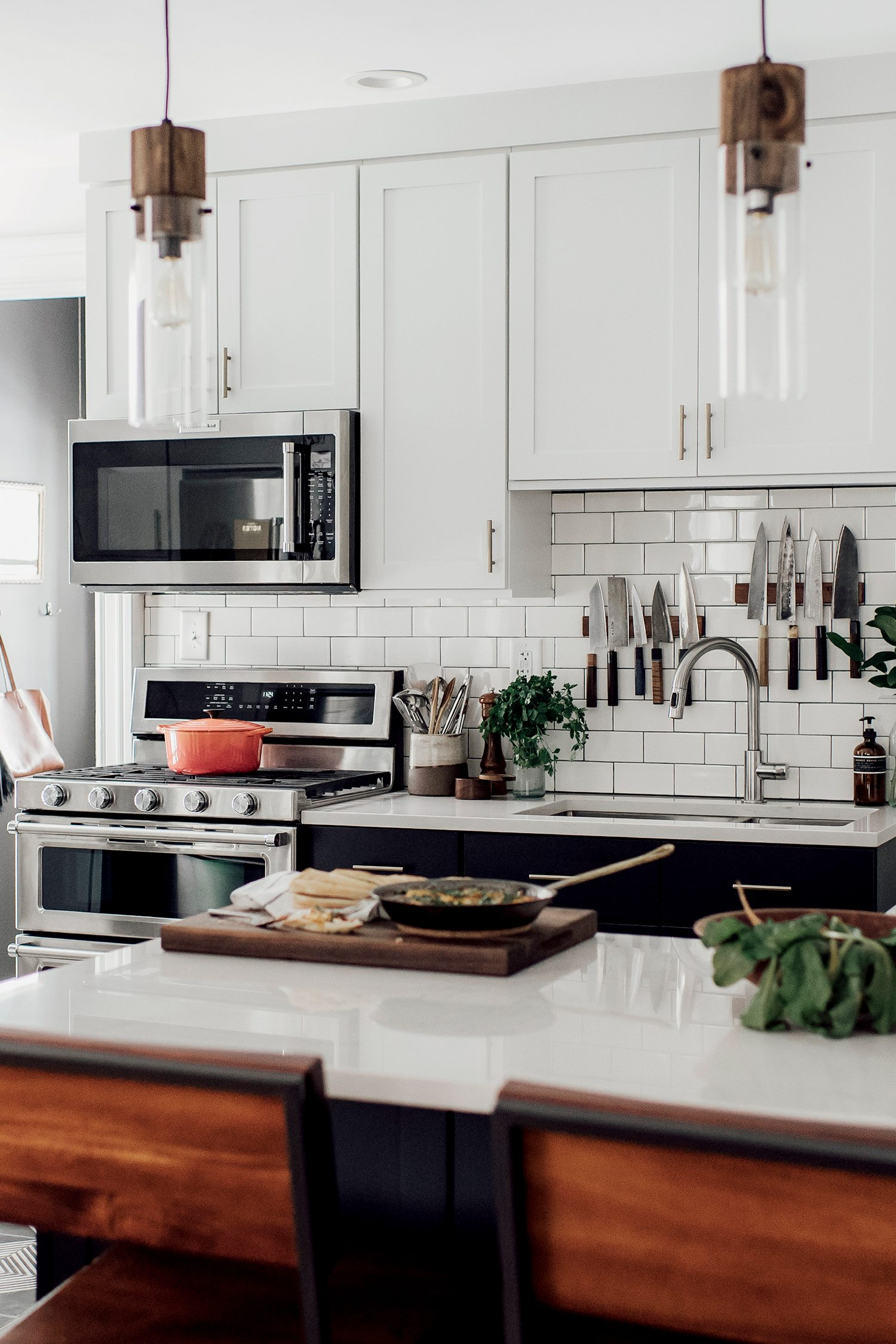 Michelle + Nick's Super Chic Modern Boho Kitchen