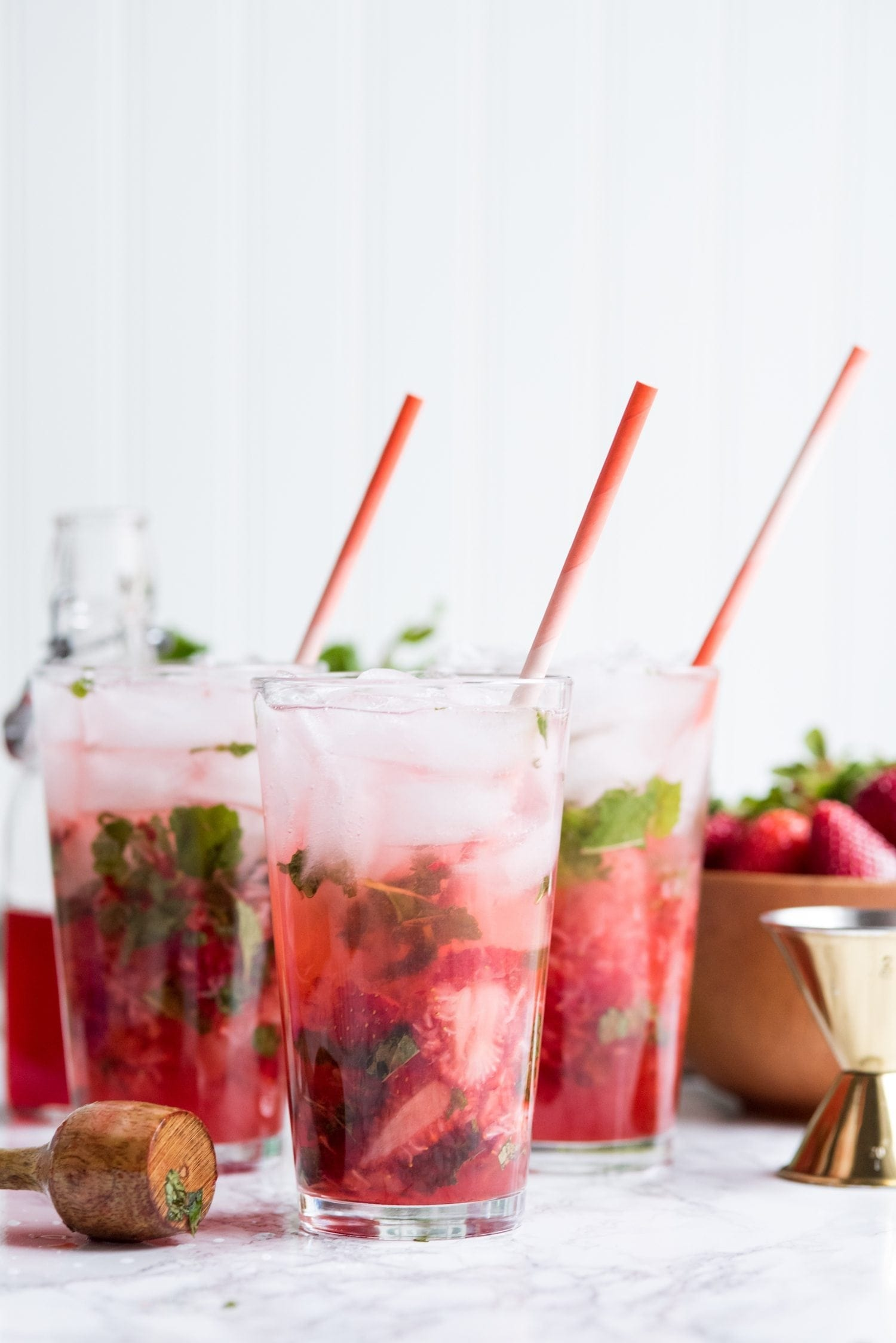The Ultimate Strawberry Mojito Recipe | Cocktail recipes, entertaining tips, party ideas and party menus from @cydconverse