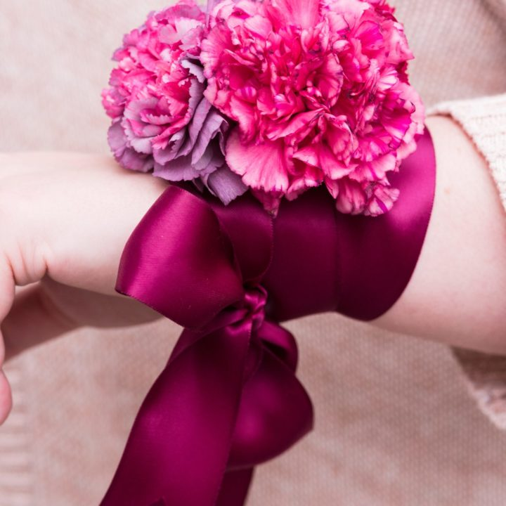 DIY Wrist Corsages for Mother's Day