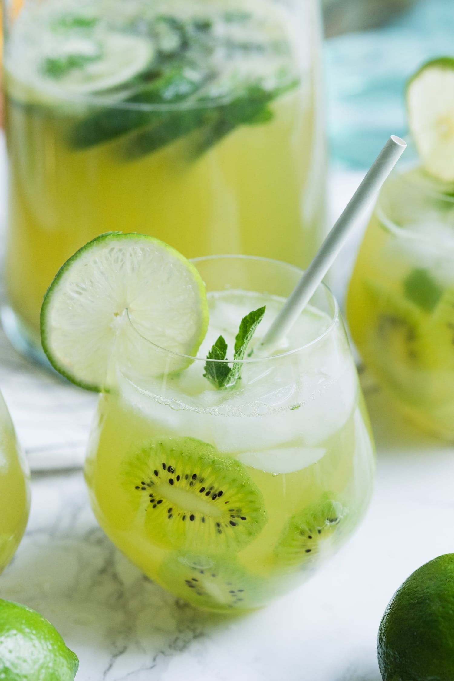 Say Yes to Summer with this Kiwi Lime Mint Sangria Recipe thumbnail