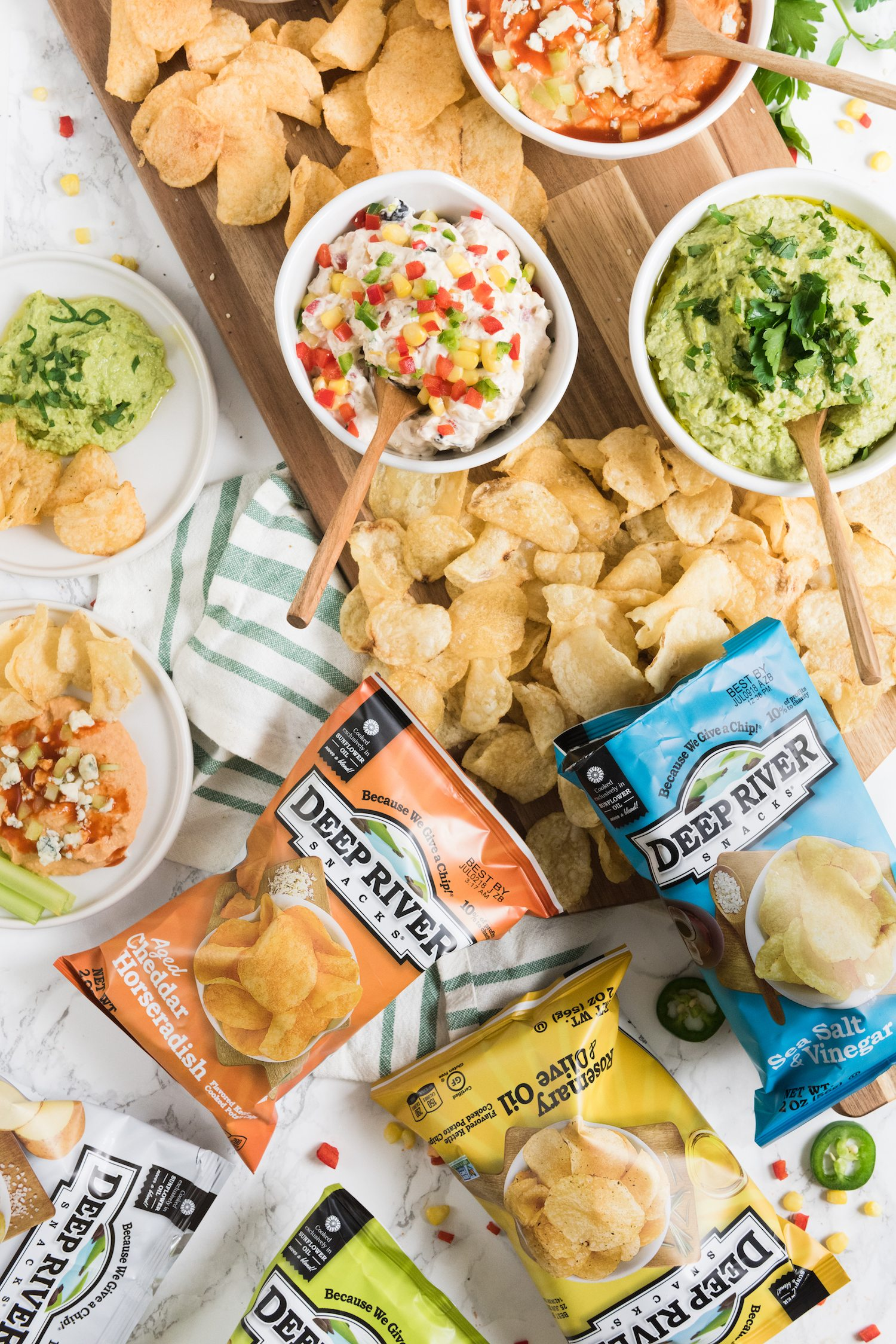 Four Delicious Party Dip Recipes! Click through to visit The Sweetest Occasion for party ideas, entertaining tips, party recipes and more from @cydconverse