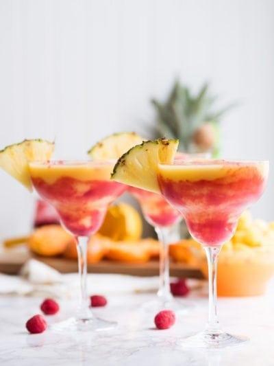 Raspberry Swirl Pineapple Mango Margaritas thumbnail