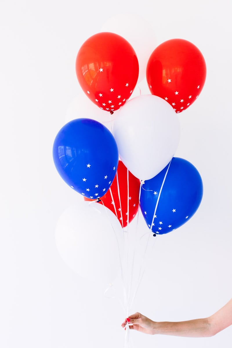 Red, White and Blue Balloons | 4th of July decorations, 4th of July party ideas and more from @cydconverse