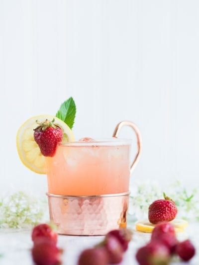 A Farm to Table Strawberry Lemonade Moscow Mule thumbnail