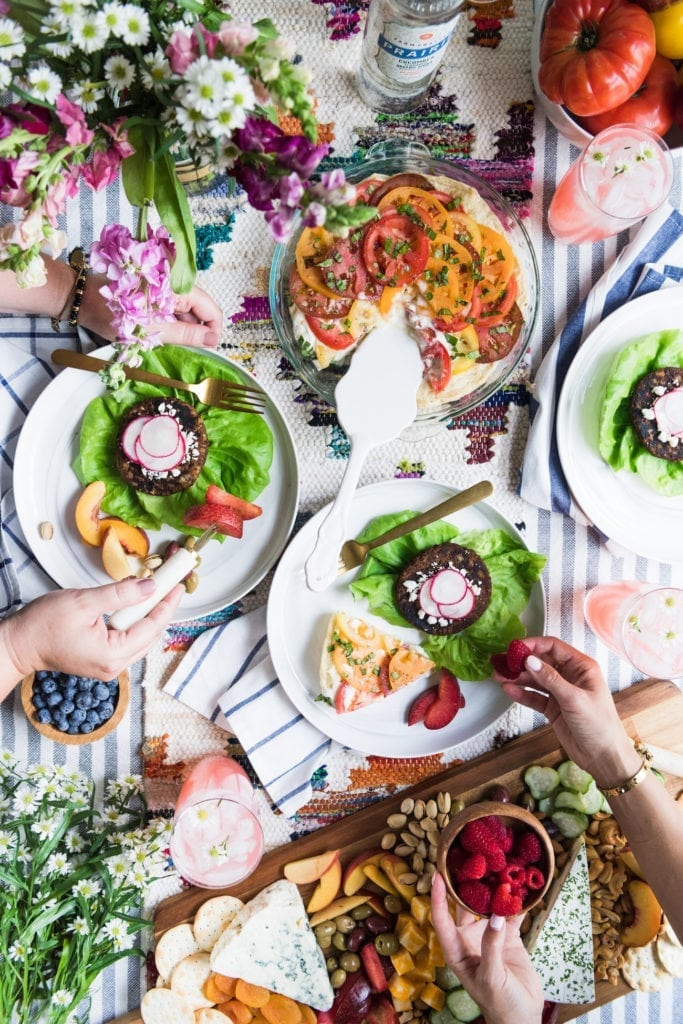 A CSA Inspired Farm to Table Dinner Party from entertaining blog @cydconverse   Click through for party recipes, entertaining tips, party ideas and more!