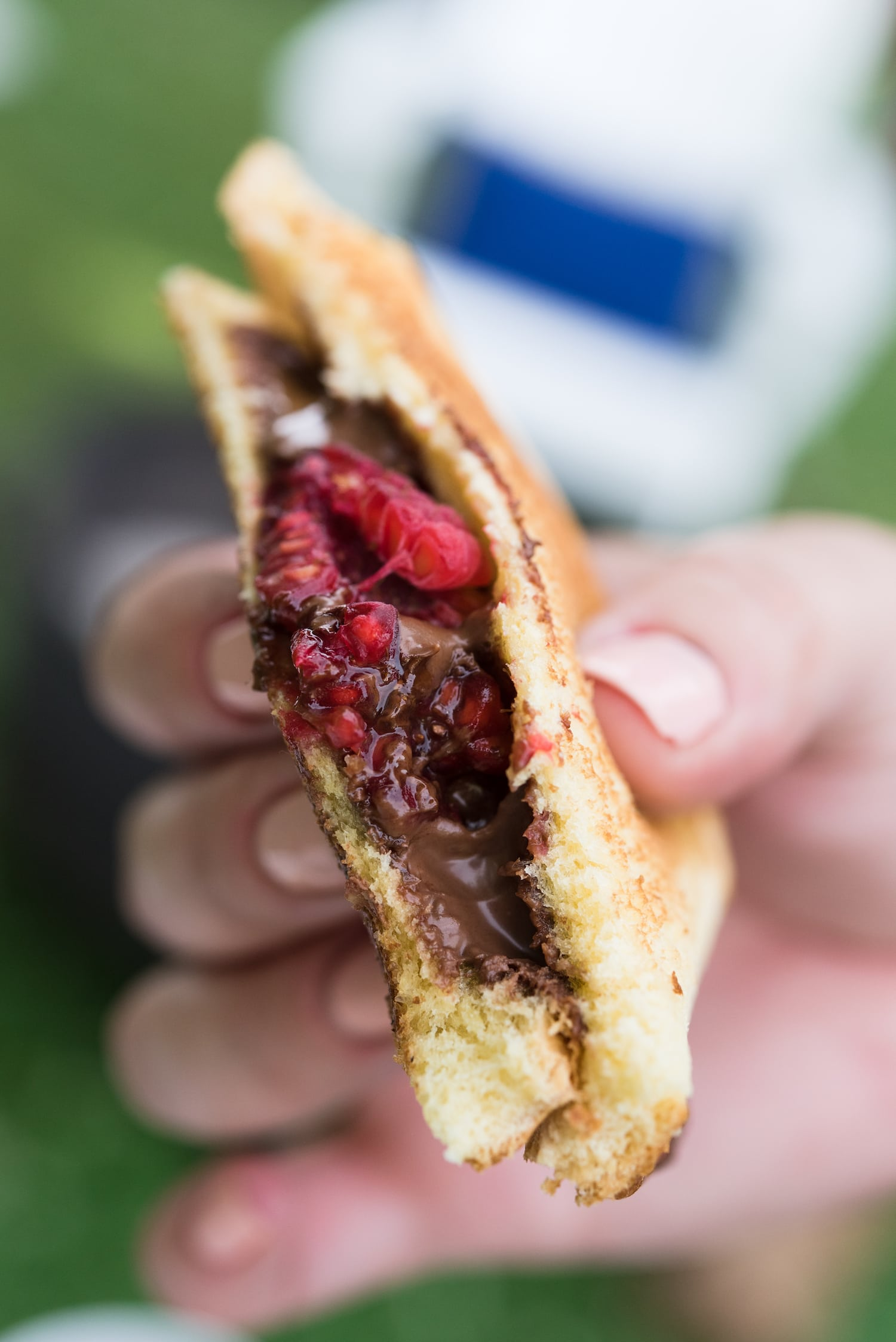 Best Camping Recipes! Raspberry Nutella mountain pies from entertaining blog @cydconverse