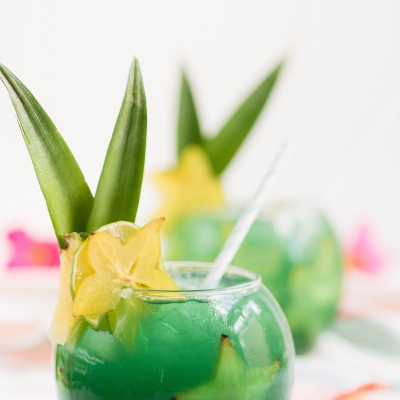 Rum Away with Me! Tiki Bar Inspired Mermaid Water Fish Bowl Drinks