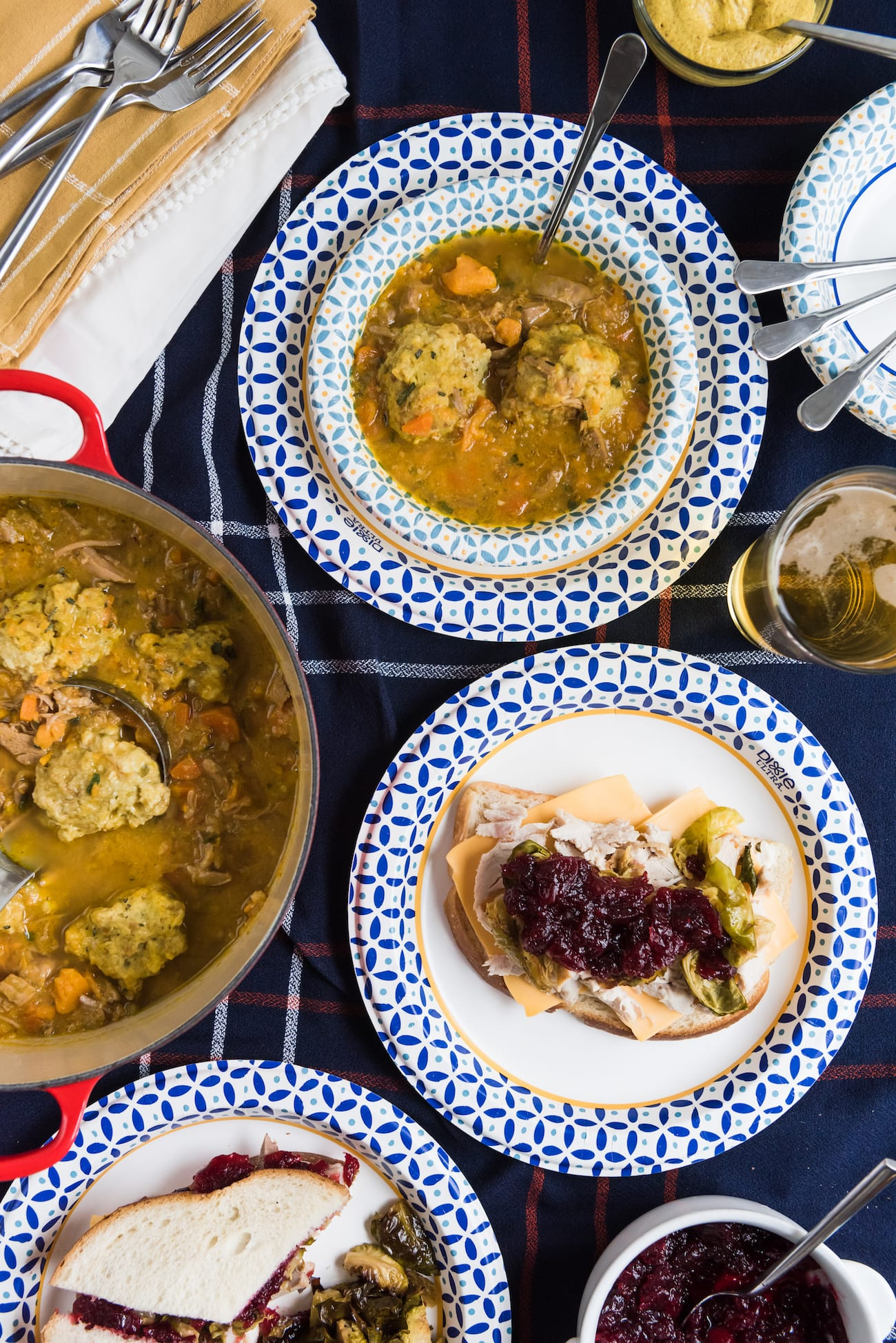 Hosting Friendsgiving with the Best Thanksgiving Leftovers Recipes like leftover stuffing dumplings from entertaining blog @cydconverse