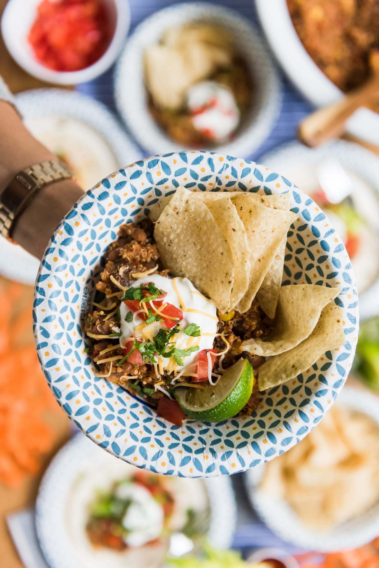 Hosting a Tailgate Party with the Best Slow Cooker Tacos from entertaining blog @cydconverse