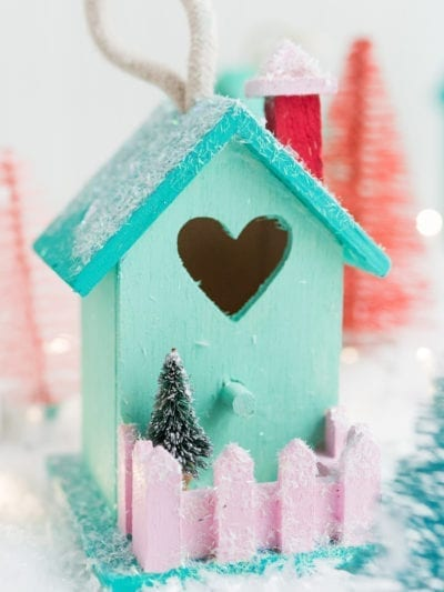 DIY Mini Birdhouse Christmas Village Ornaments thumbnail