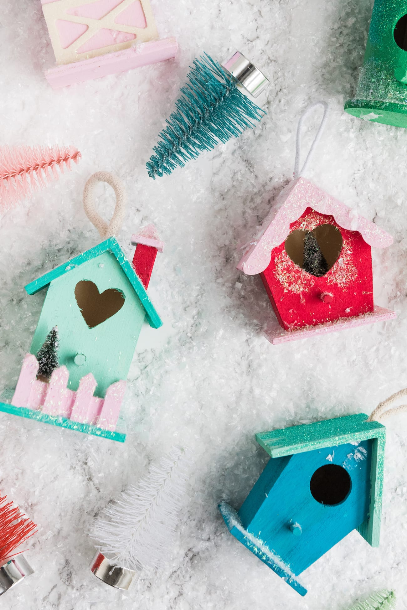 DIY Christmas Village Ornaments | Christmas crafts, holiday entertaining tips, Christmas cocktails and more from entertaining blog @cydconverse