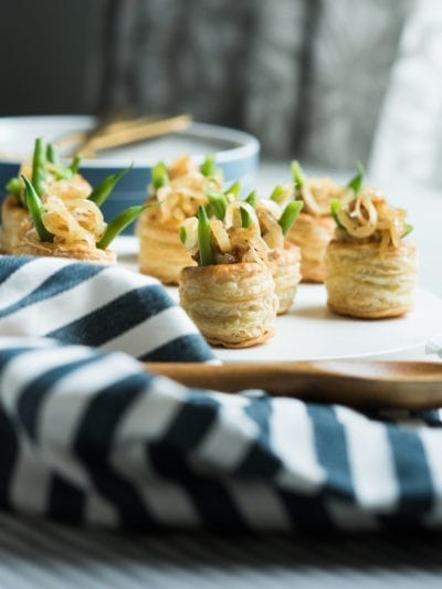 The Perfect Thanksgiving Appetizer: Mini Green Bean Casserole Puffs thumbnail