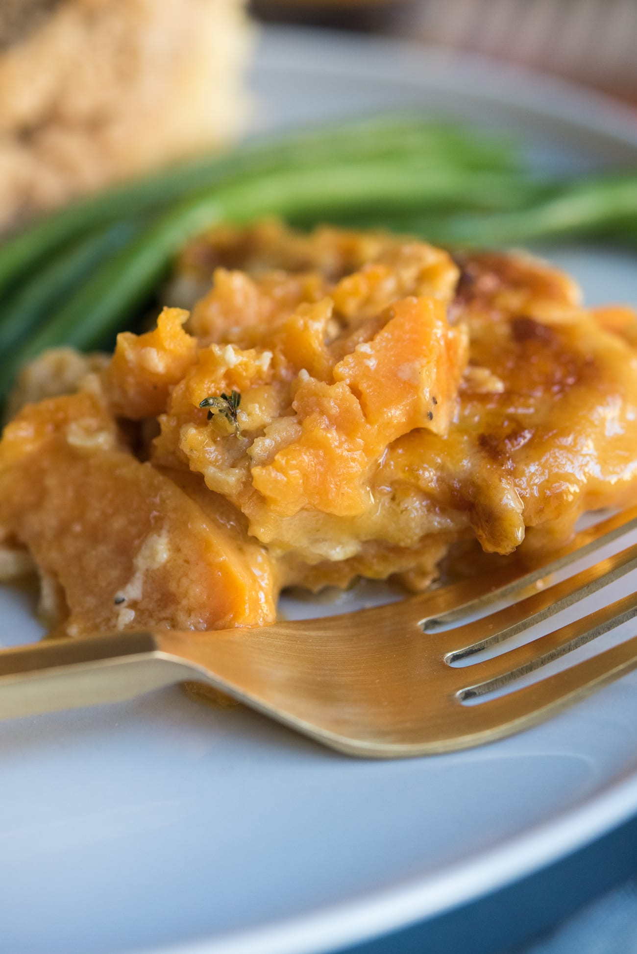 Best Thanksgiving Side Dishes - Scalloped Sweet Potatoes Recipe | Entertaining tips, Thanksgiving hosting tips, Thanksgiving menu ideas from entertaining blog @cydconverse