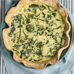 Level Up Your Brunch Game with this Spinach Broccolini Goat Cheese Quiche thumbnail